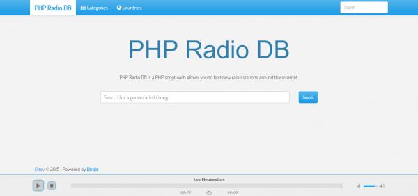Script Radio - Banco de dados de estações de rádio PHP